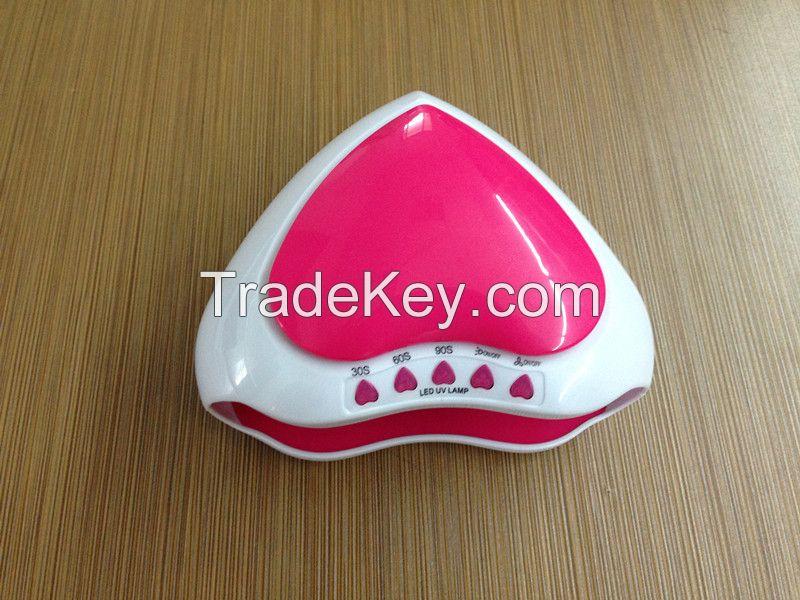 Mini heart led nail lamp
