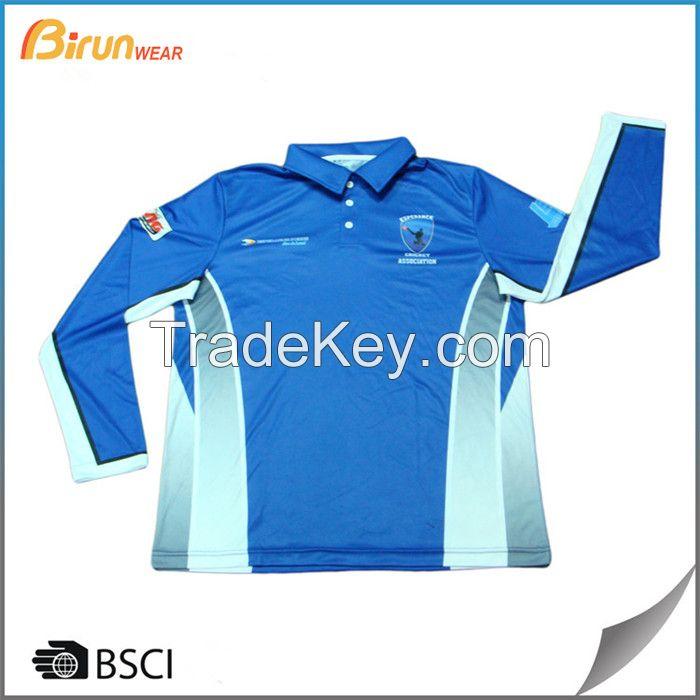 Custom tailor sublimated long sleeve mens polo shirts
