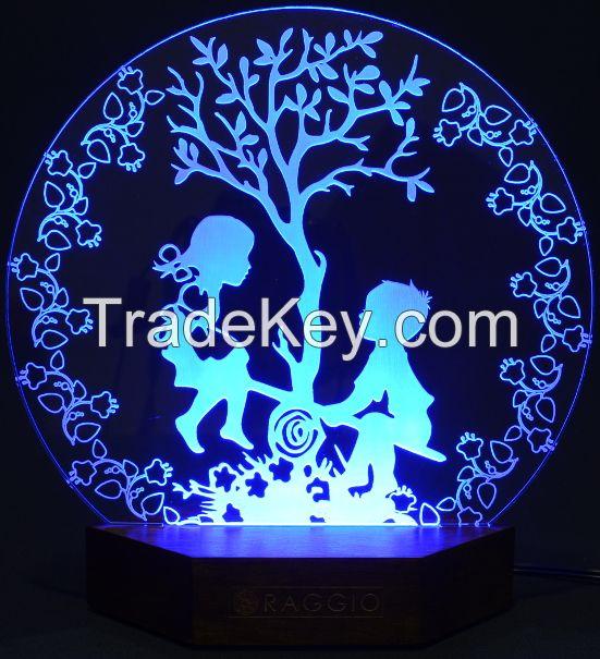 artistic engraved acrylic led lighting