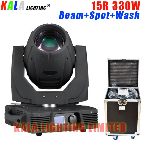 New Arrival High Brightness Multi-functions Stage Moving Lightings 15R 330W Beam Spot Wash Moving Head Light