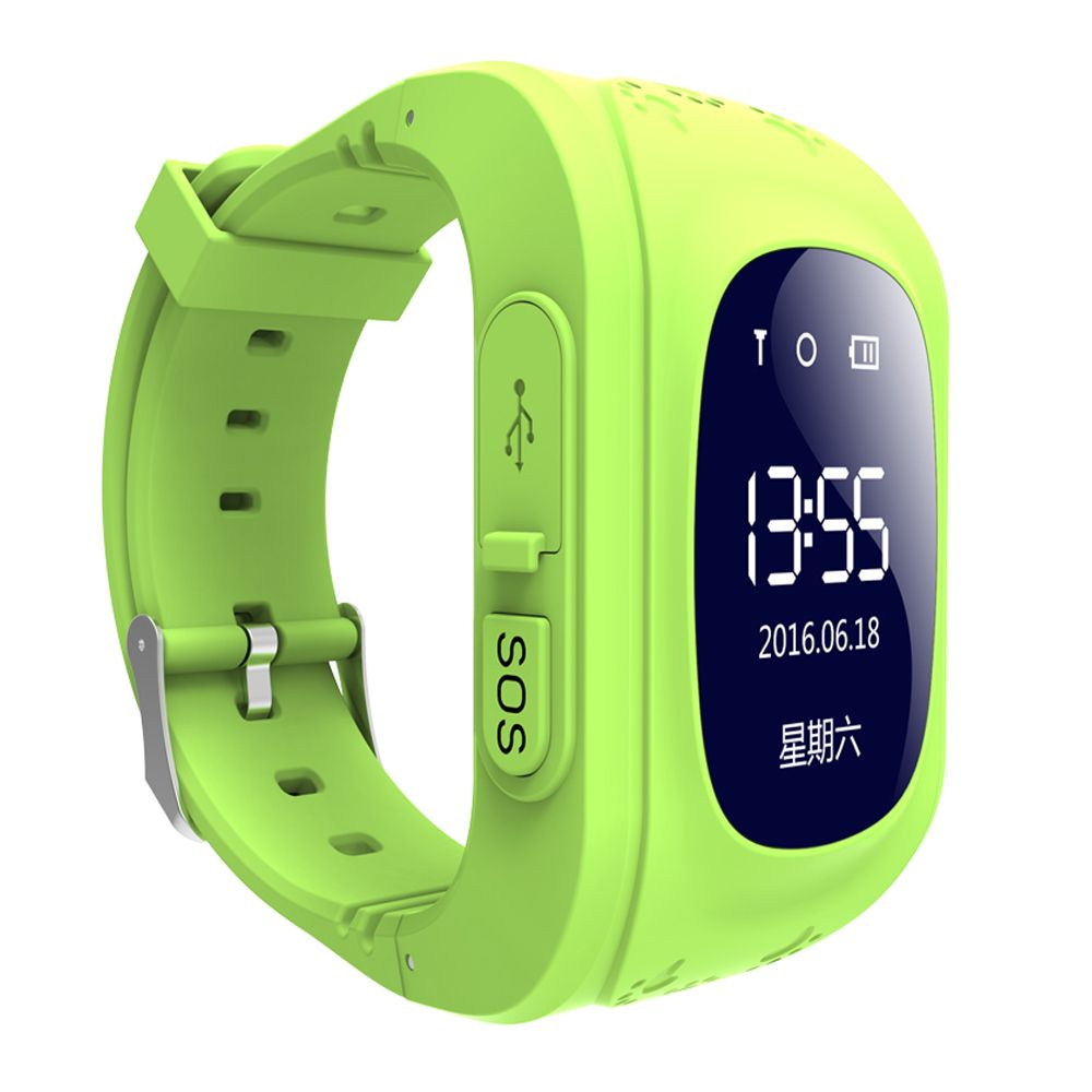 Q50 Smart Watch OLED Screen Children Baby Tracker Satellite Monitor SOS Phone Call GPS Watch