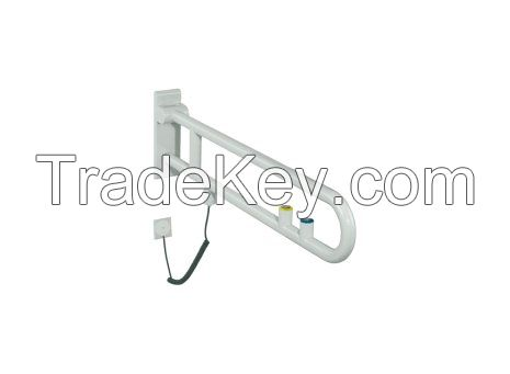 Rotatable Hinged Support Rail for Disabled Special Needs in Toilet