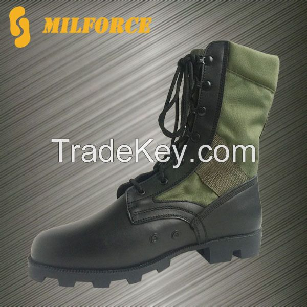 Pannama pattern rubber jungle boots hiking boots hunting boots security boots