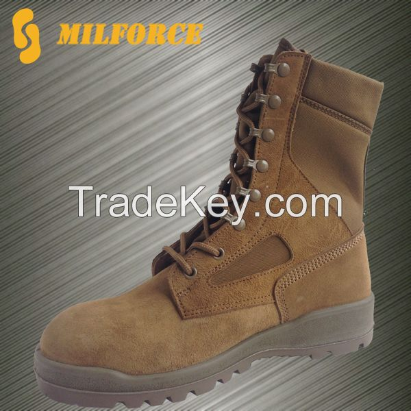 CHINA MILFORCE brown army military boots desert boots shoes for men