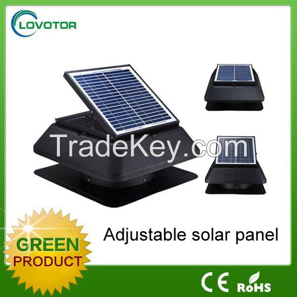 Solar attic fan for house