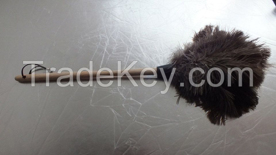 cleaning medium wooden handle feather duster