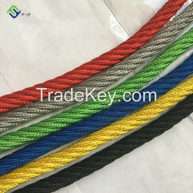 Wear Resistant 16mm Polyester 6 Strand Combination Playground Rope