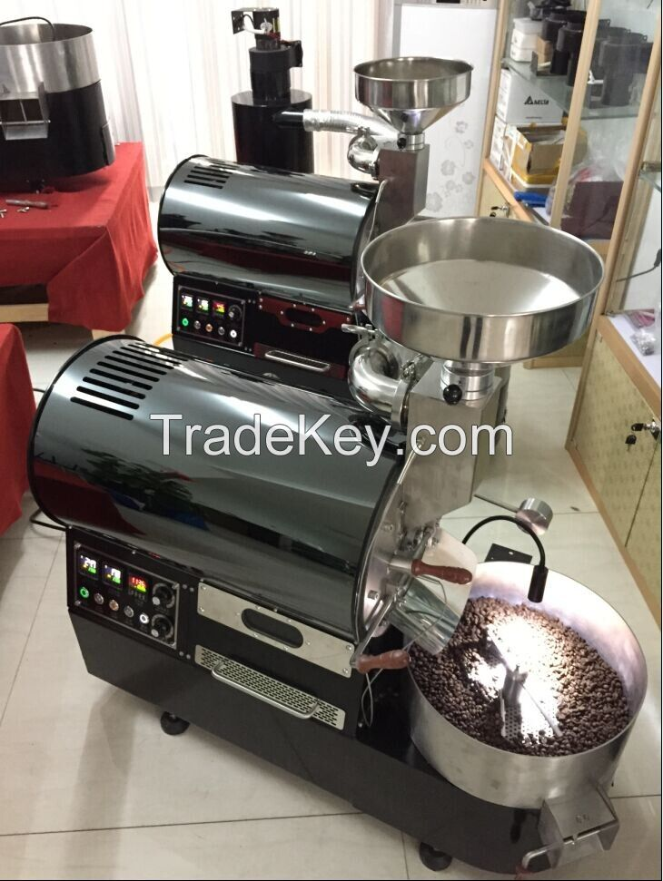 Stainless steel green coco cocoa bean bake roaste with data logger