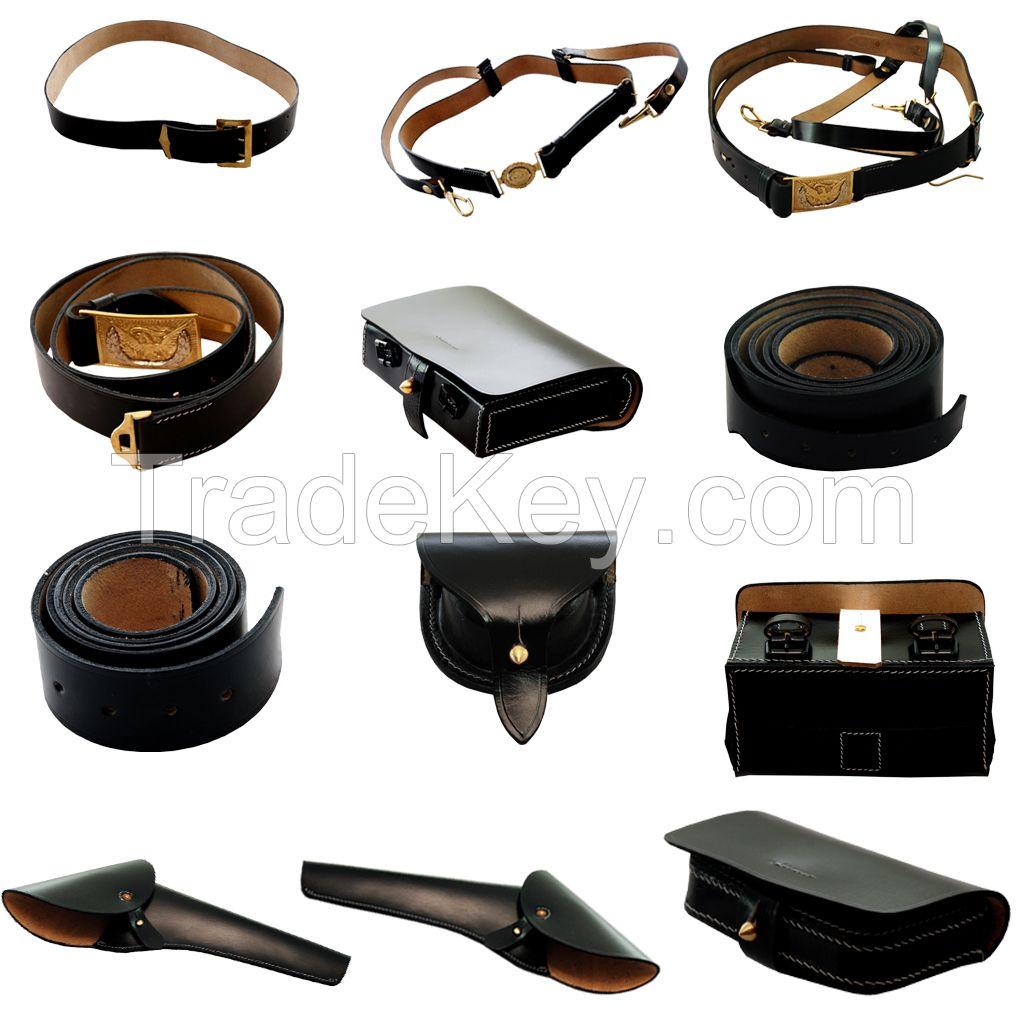 Civil War Leather Cavalry Gear.