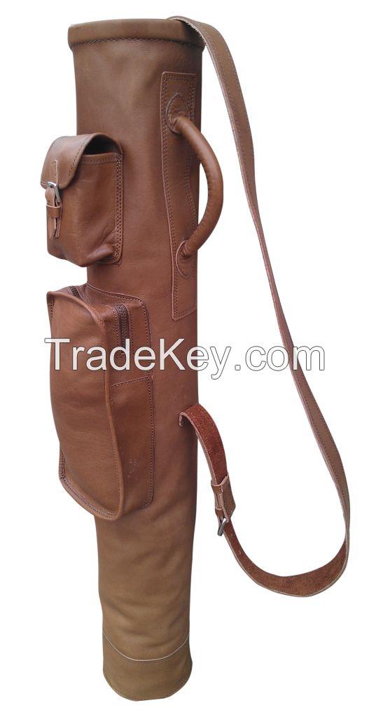 Vintage Style Leather Golf Bag