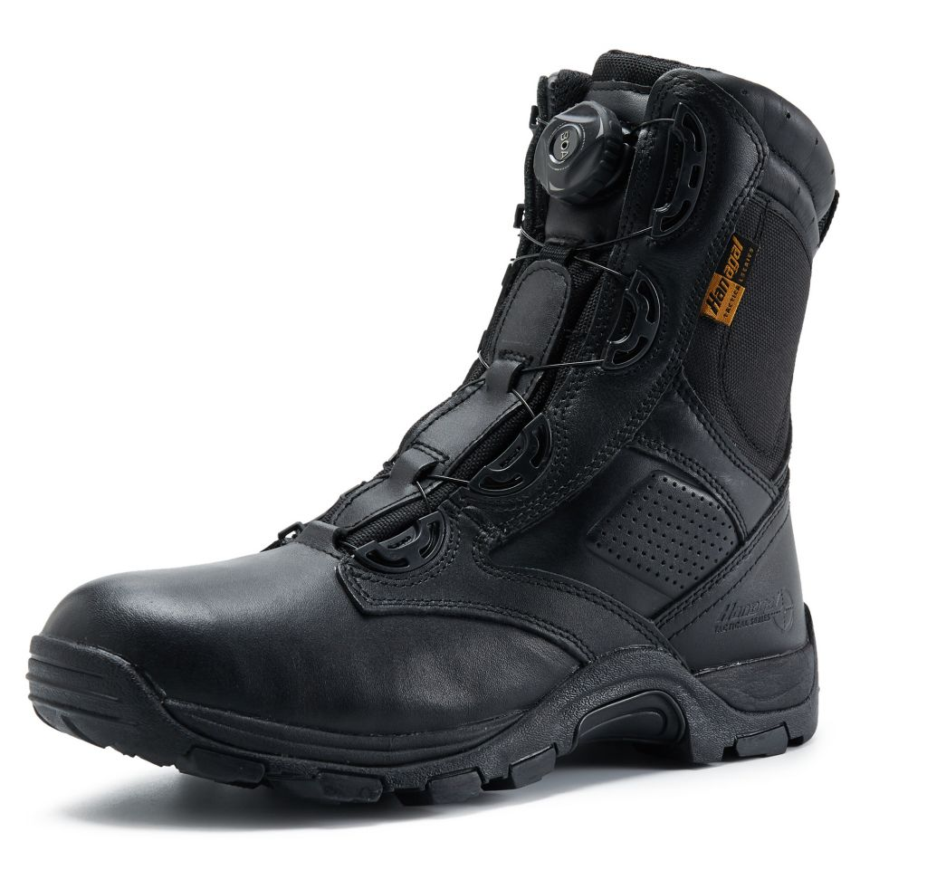 Top Genuine leather waterproof army boot for men BOA quick release