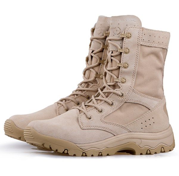 Suede leather special forces military boot cool desert shoes