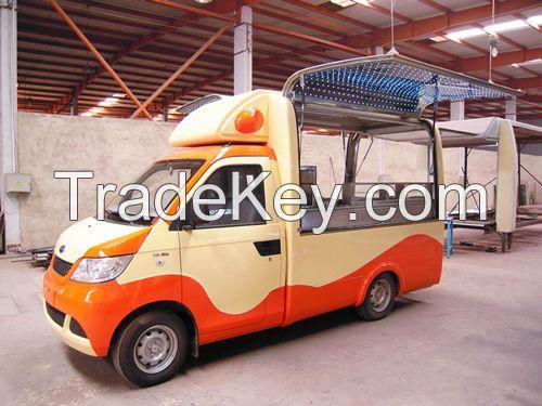 Gasoline vending food truck