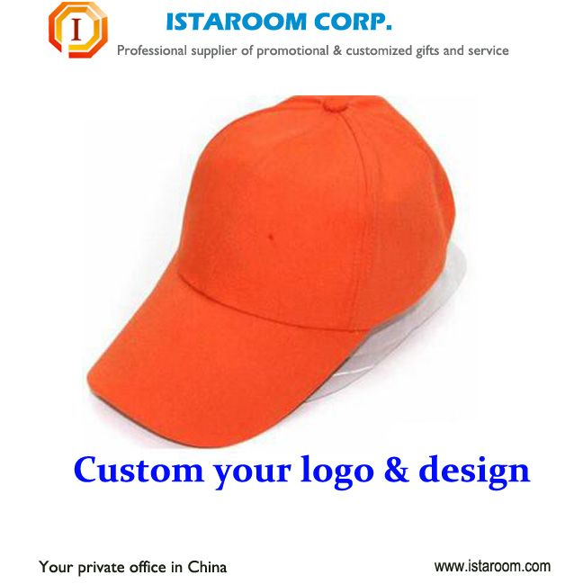Promotional Customized Blank Baseball Cap hat add Embroidery Logo