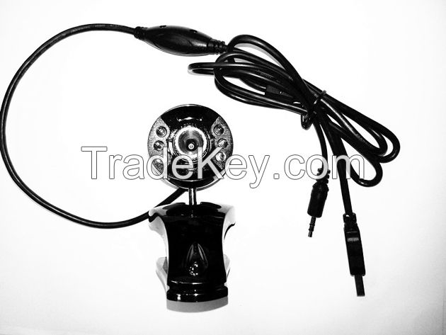 round digital camera with 6 led and sandwich clip