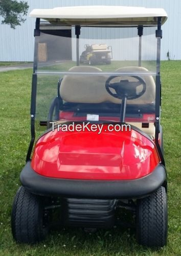48 Volt Cherry Red Club Car Precedent Electric Golf Cart With Rear Flip Seat $