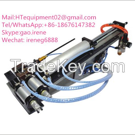 Automatic electrical crimping machine with single end