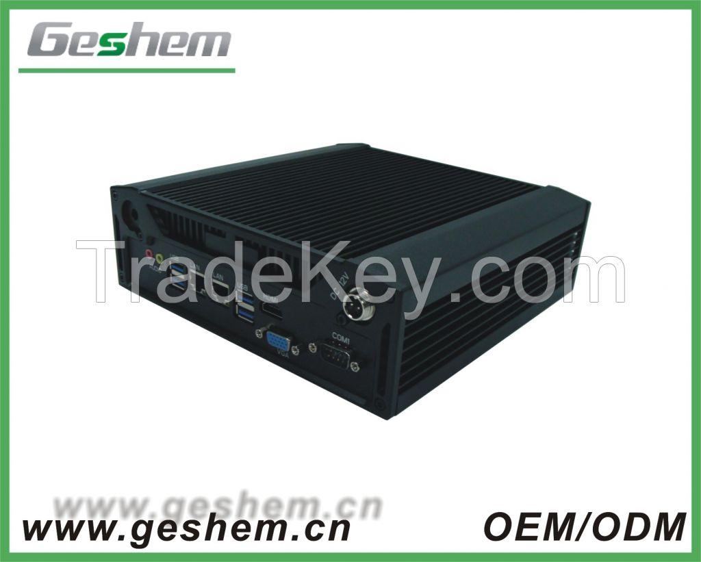 core i3 mini pc 12v 5A fanless design type industrial computer