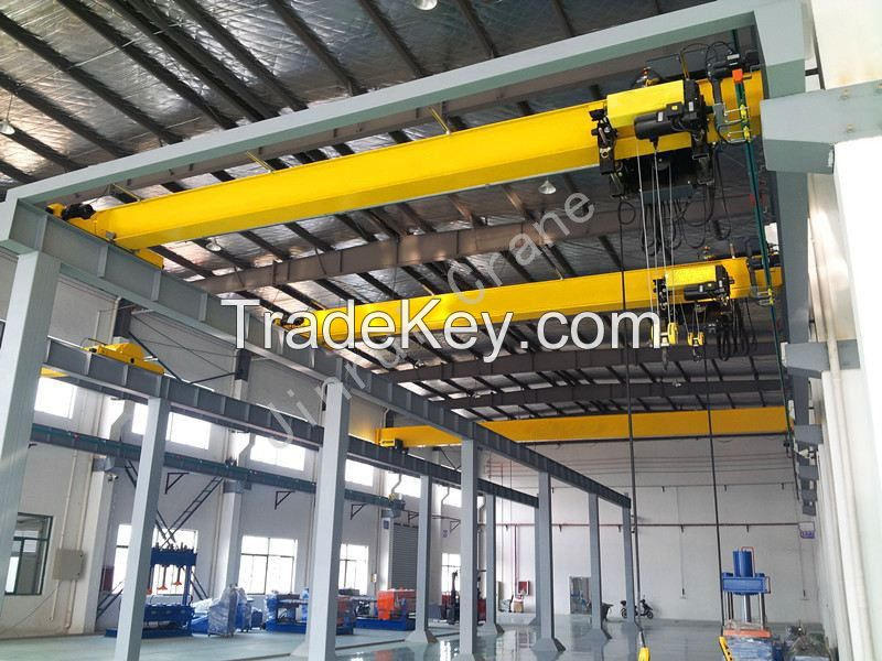 China Widely Used Electric Indoor Single Girder Beam Bridge Overhead Crane 5 Ton
