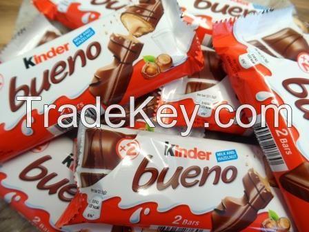 Nutella 350g, Kinder Bueno 43g, Kinder Chocolate 50g, Kinder Surprise Eggs, Kit Kat, Quality Street