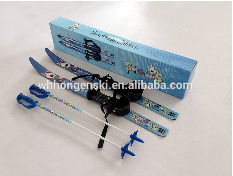 Kids ski sets for cross country ski, toy present with colour box