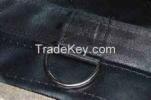 black pvc d-ring tarpaulin sheet