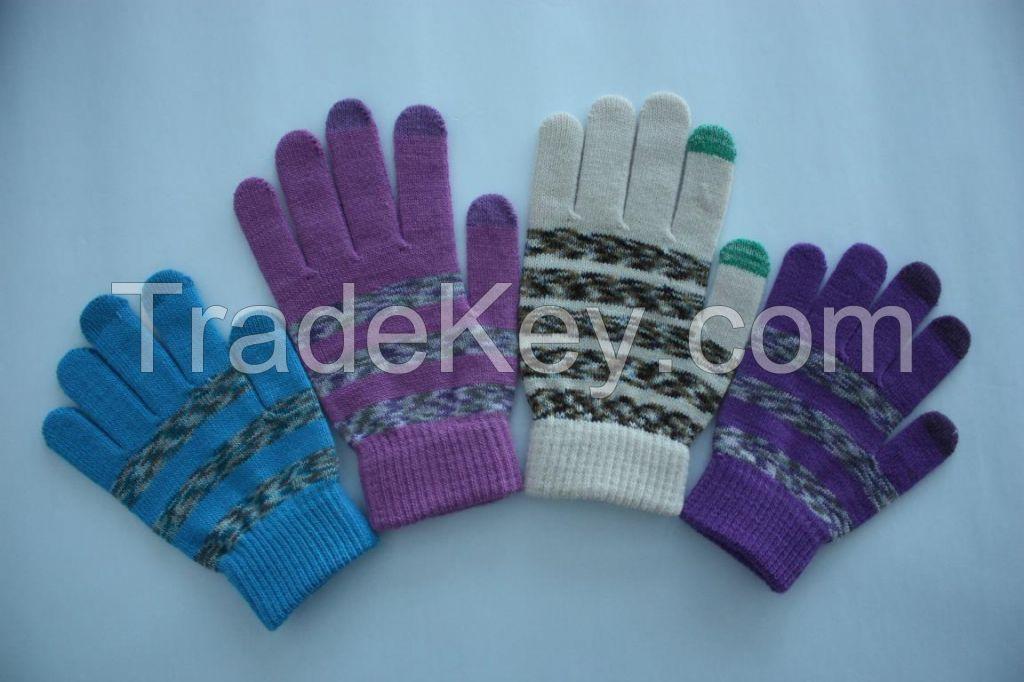 Knit glove, touch screen glove, magic glove