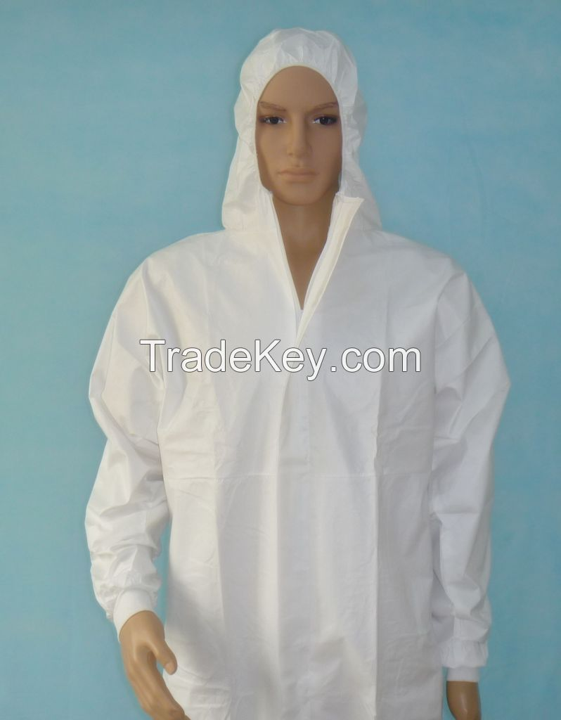 One Used Coverall Disposable Protective Clothing