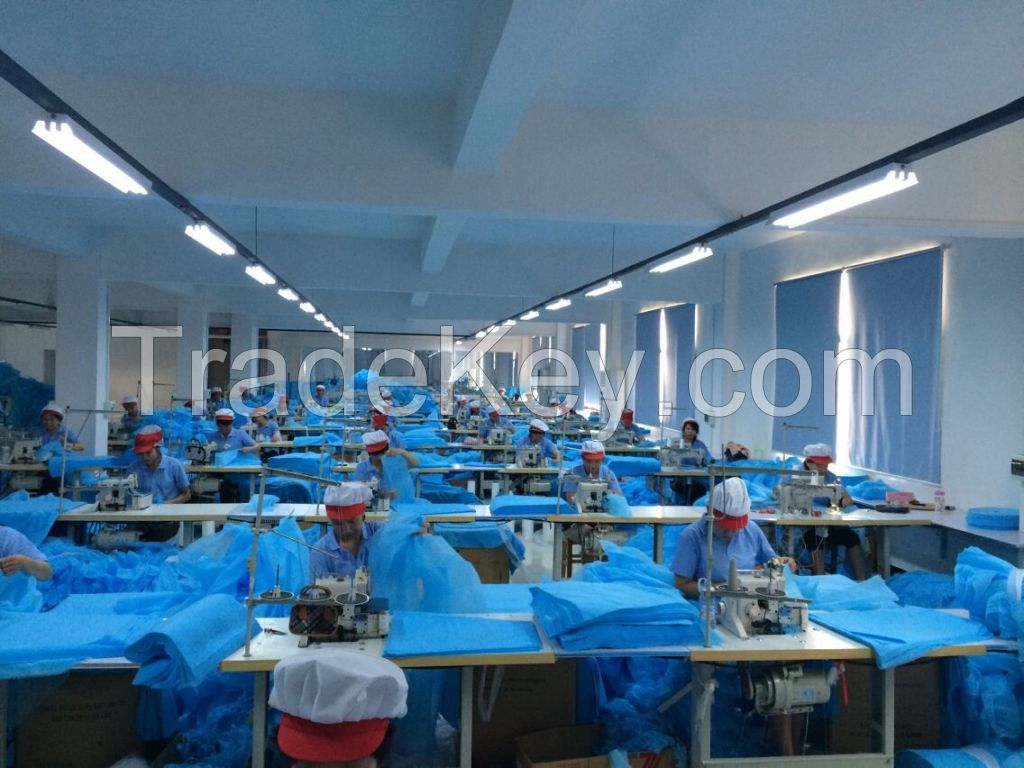 Disposable Non Woven Surgical Isolation Coverall Suit