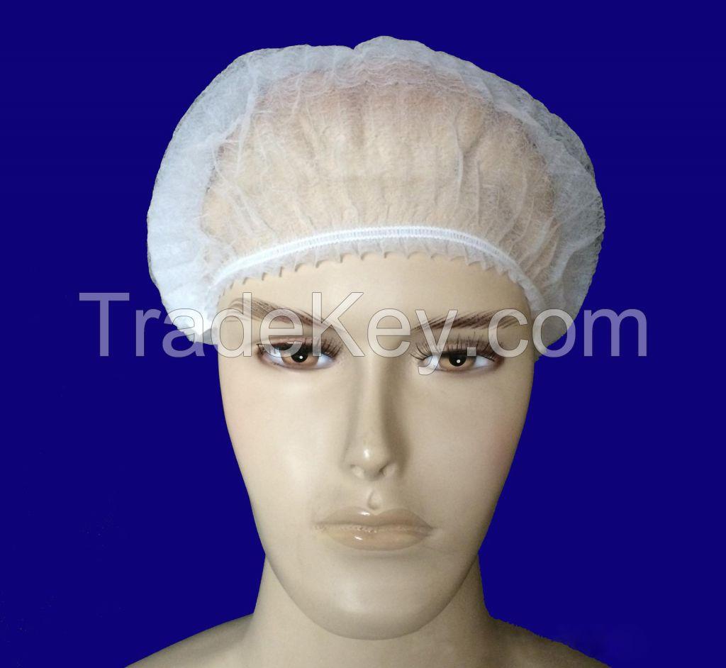 Disposable Bouffant Cap,Mob Cap,Clip Cap Surgical Caps
