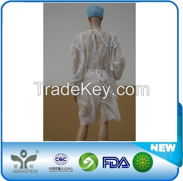 Sterile Disposable Non woven Surgical Isolation Patient Gown