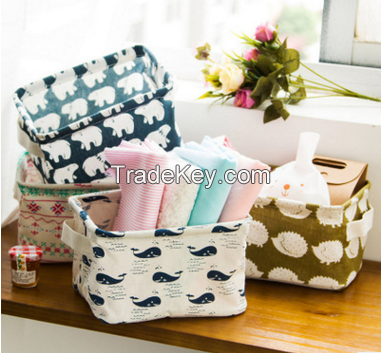 Wholesale Stock 2016 New Arrivals Cotton Handle Storage Basket