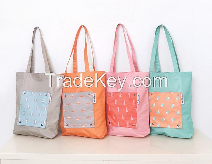 Wholesale Stock 2016 New Arrivals Cartoon Folding Color Shopping Bag