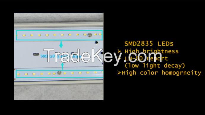 LED IP65 weatherproof anti-corrosive batten LED emergency sensor vapor tight light