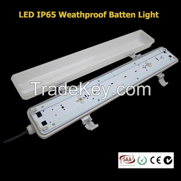LED IP65 weatherproof anti-corrosive batten light vapor tight fixture