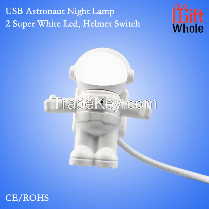 2016 promotion best gadgets New USB Astronaut spaceman night light