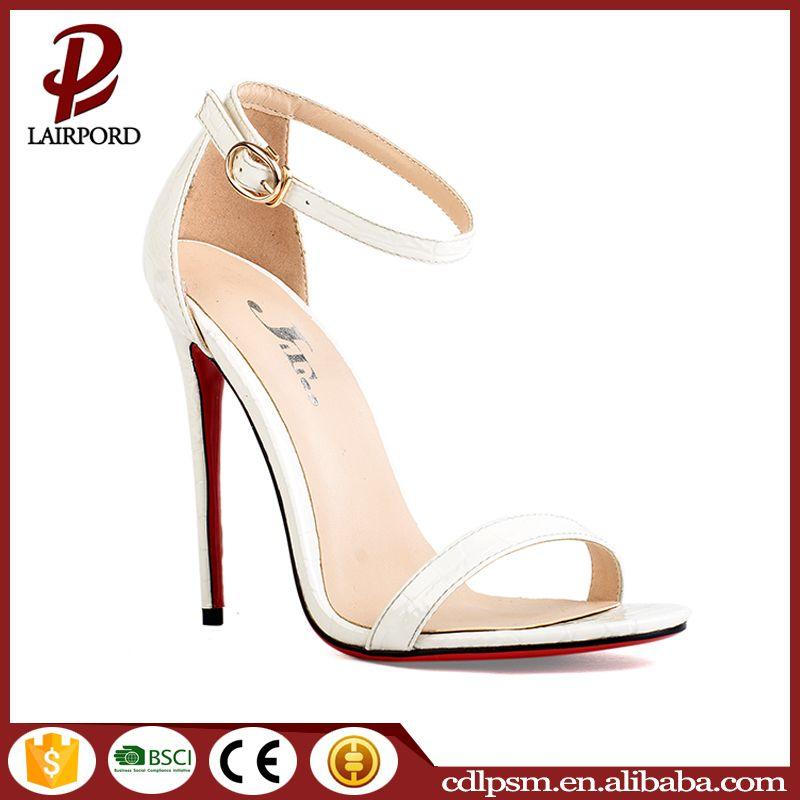 2016 Free sample last week new design women high heel sandals