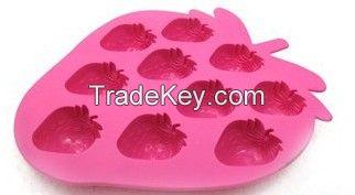 strawberry silicone ice cube tray