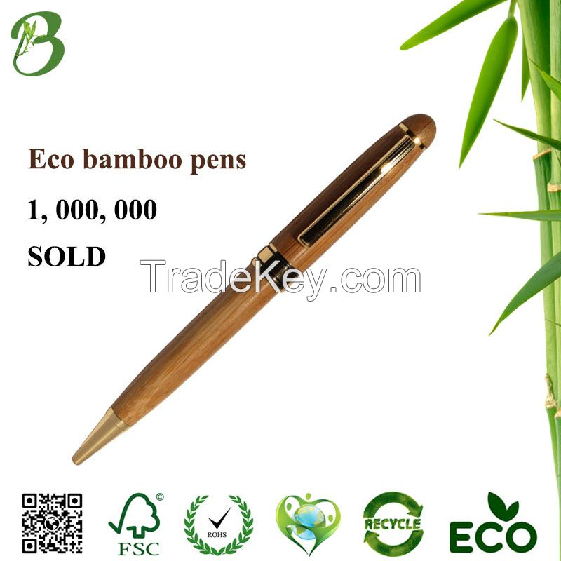 Promotional eco gifts wood hotel pen luxury bamboo ball pen