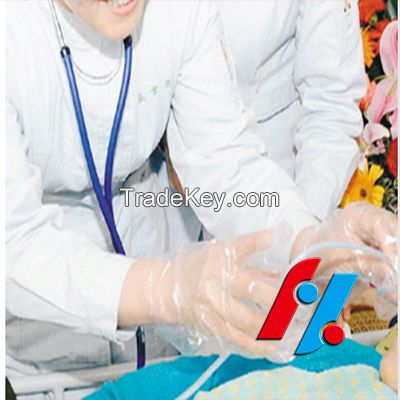 HDPE Glove plastic disposable blue