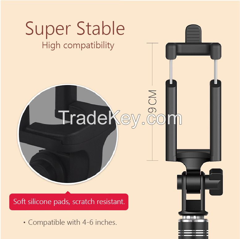Selfie Stick, Rainbow Selfie Stick, for iPhones, Samsung Galaxy s7 edge/s4 Android and More