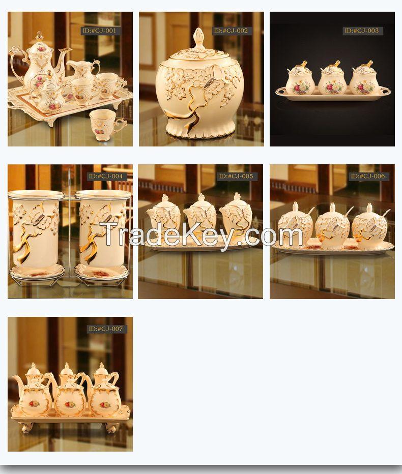 L-D European style ceramic Cruet set coffee set tea set