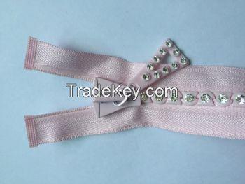 two way open zip custom length metal zipper wholesale for suitacse