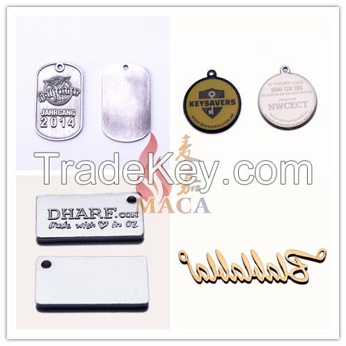 Custom Metal Tags for clothing Jewelry handbags