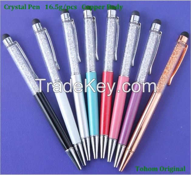 Promotional New Nice Diamond stylus pen Crystal Pen crystal ball pen
