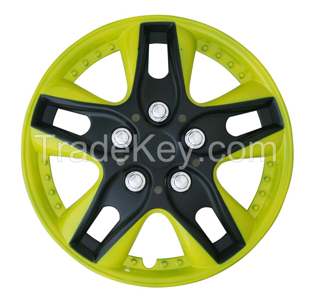 Hot sale and easy mounting double or normal painting wheel cover