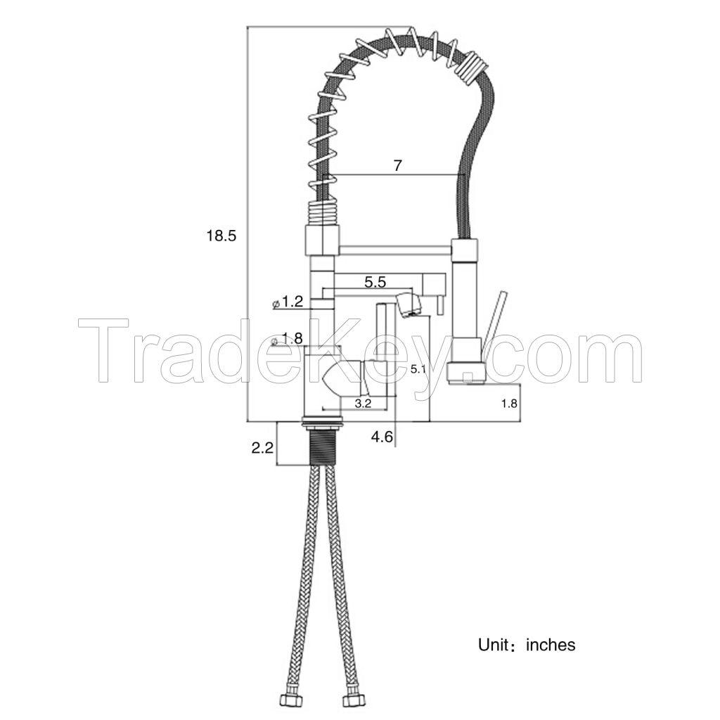 China hot selling brass chrome kitchen faucet SRBF1837