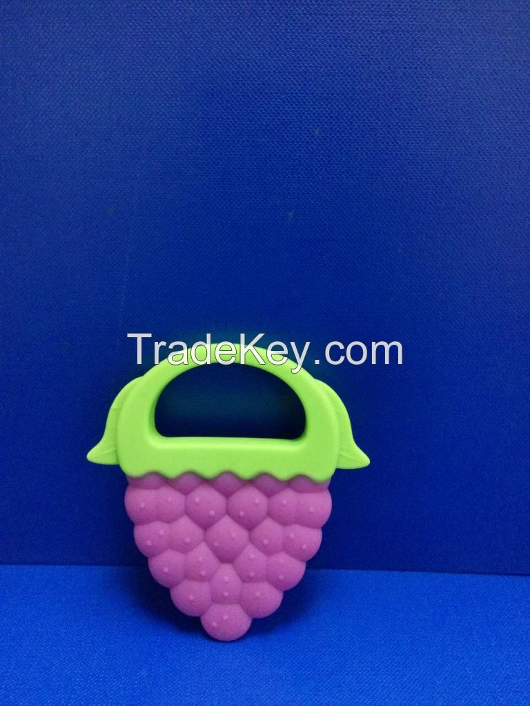 high quality 100% Food Grade Soft Fruit Shape Silicone Baby Teether