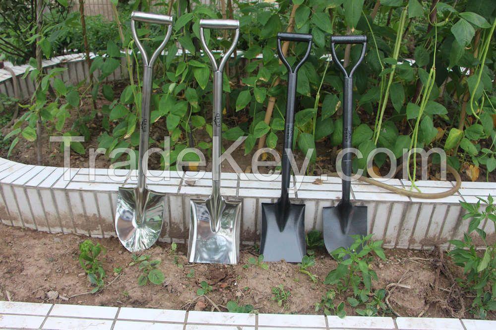 America style D handle all steel garden hand digging shovel