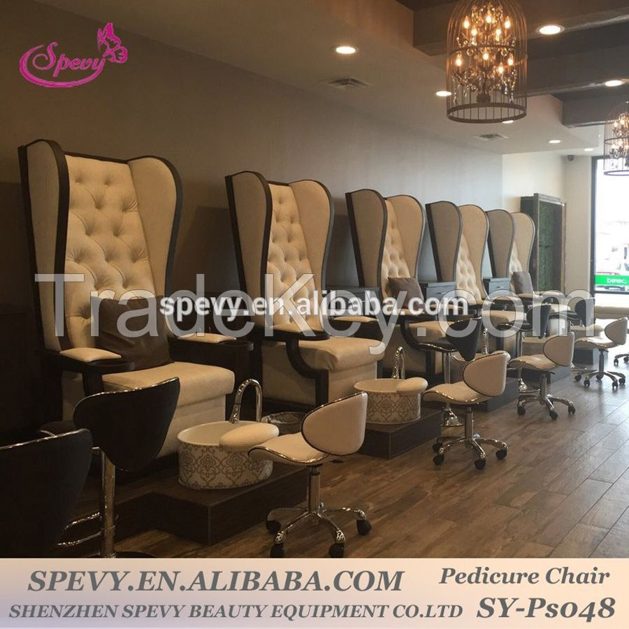 2016 luxury wing back throne spa lounge chairs